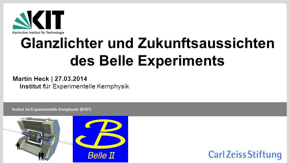 Glanzlichter und Zukunftsaussichten des Belle Experiments