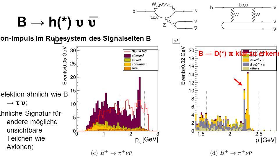 Pion-Impuls im Ruhesystem des Signalseiten B