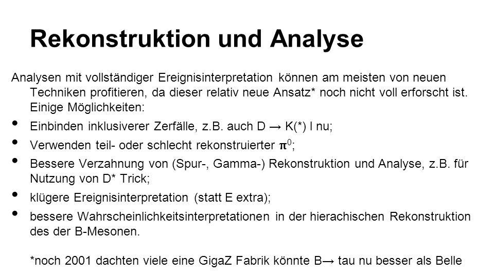 Rekonstruktion und Analyse