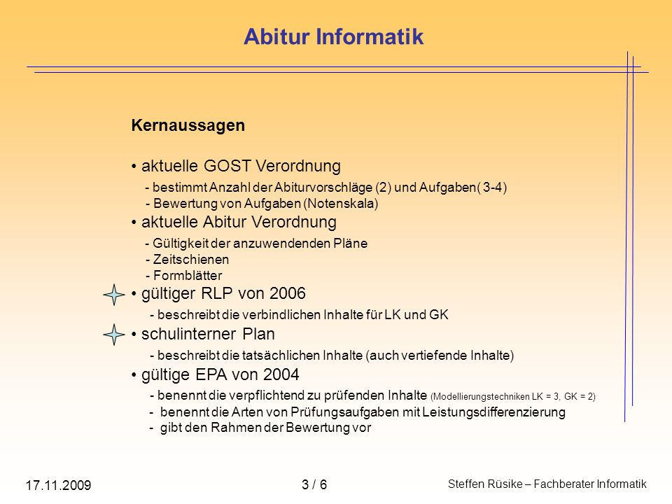 Abitur Informatik Kernaussagen