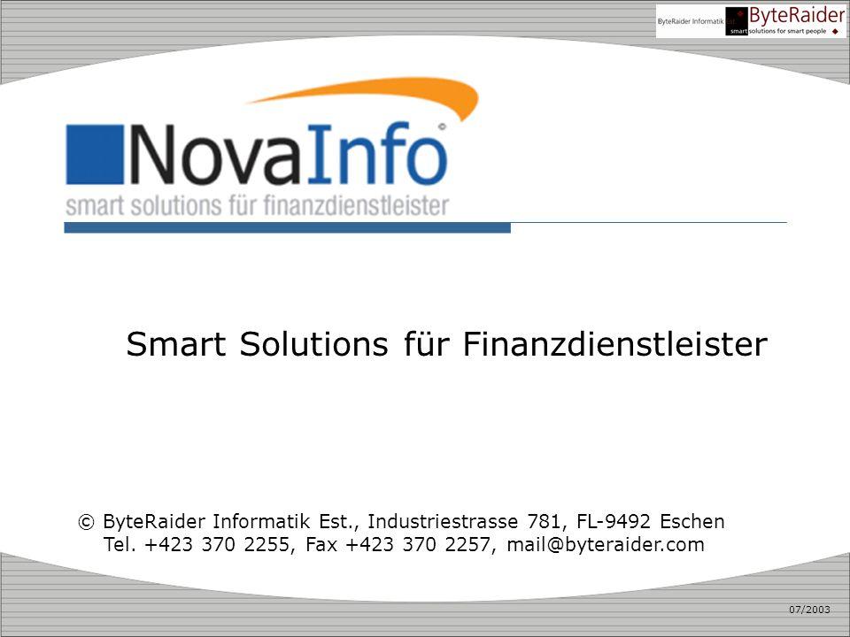 Smart Solutions für Finanzdienstleister