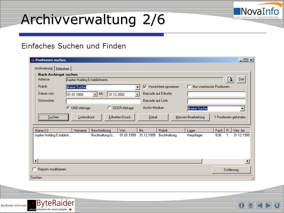 Archivverwaltung 2/6 Einfaches Suchen und Finden