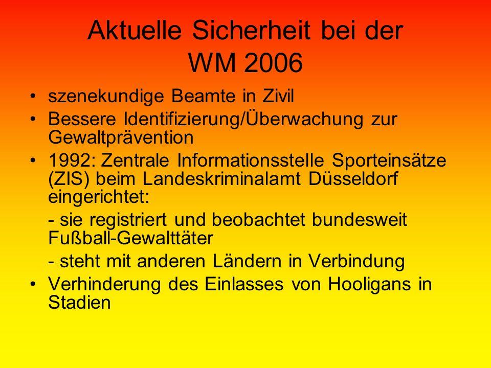 Aktuelle Sicherheit bei der WM 2006