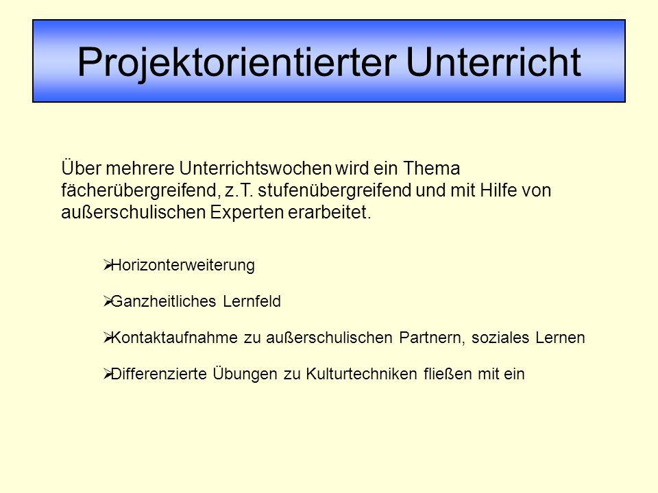 Projektorientierter Unterricht