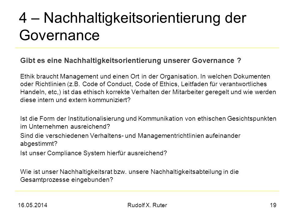 4 – Nachhaltigkeitsorientierung der Governance