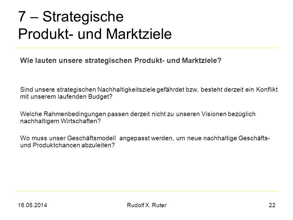 7 – Strategische Produkt- und Marktziele