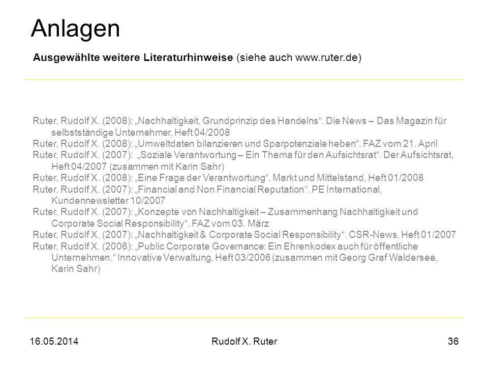 Anlagen Ausgewählte weitere Literaturhinweise (siehe auch www.ruter.de)