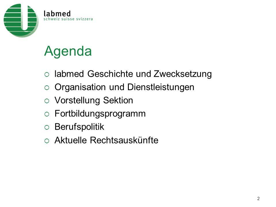 Agenda labmed Geschichte und Zwecksetzung