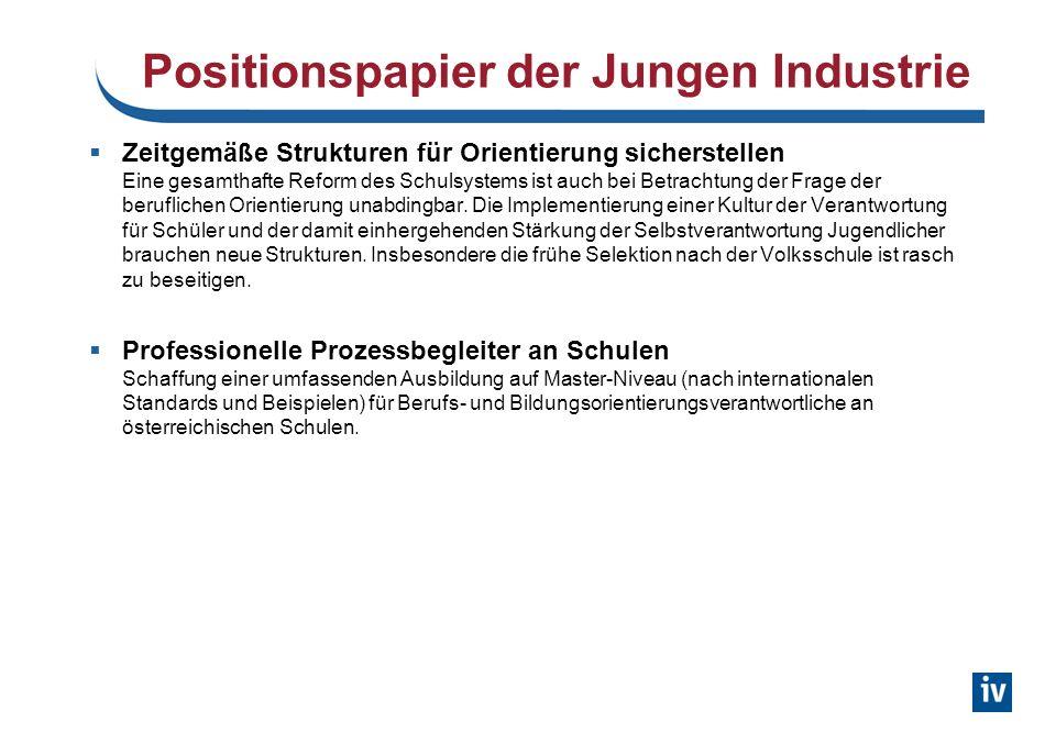 Positionspapier der Jungen Industrie
