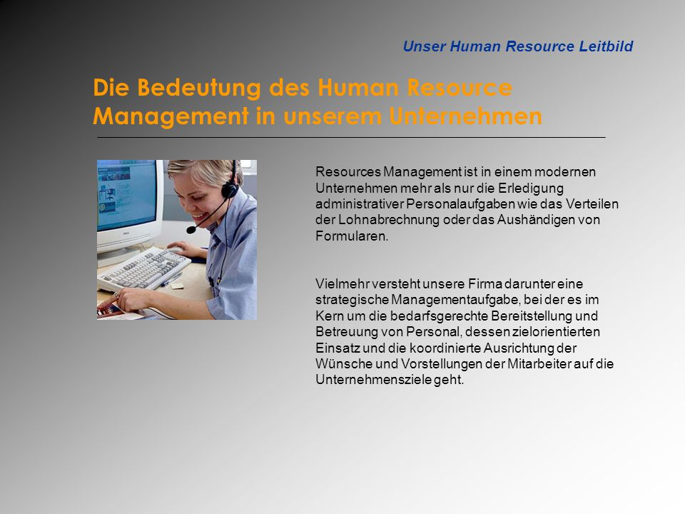 Unser Human Resource Leitbild