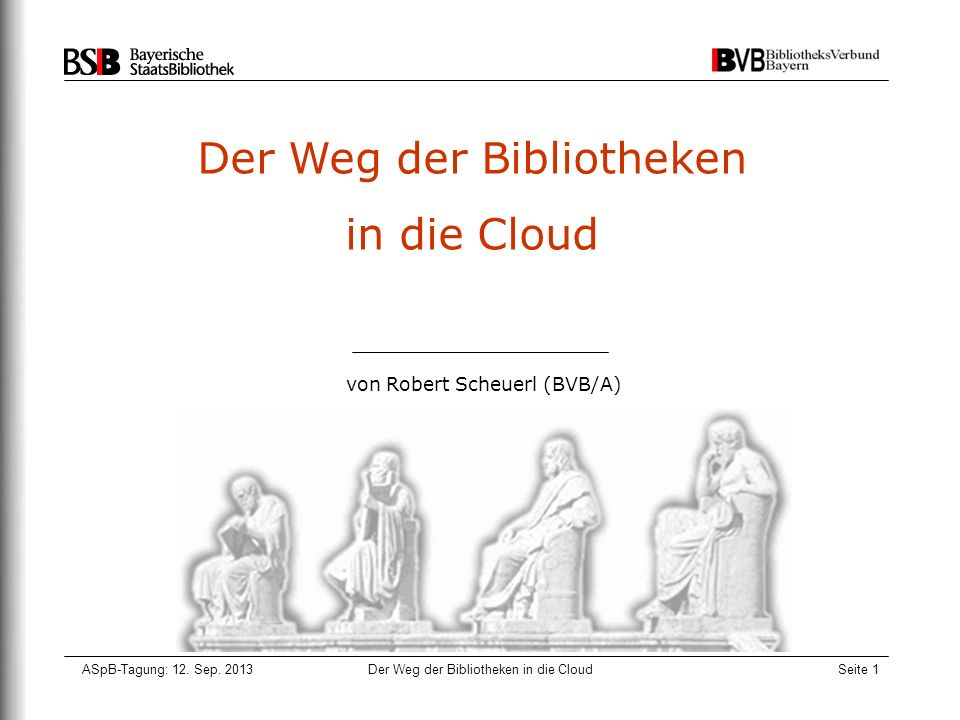 Der Weg der Bibliotheken in die Cloud