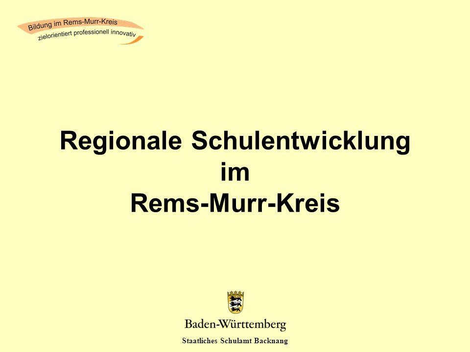 Regionale Schulentwicklung im Rems-Murr-Kreis