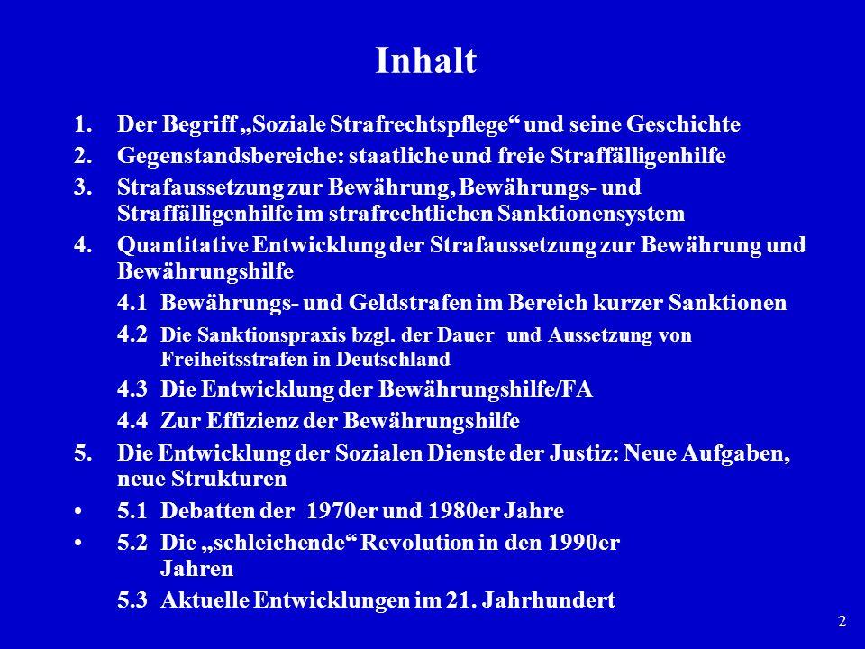 """Inhalt Der Begriff """"Soziale Strafrechtspflege und seine Geschichte"""