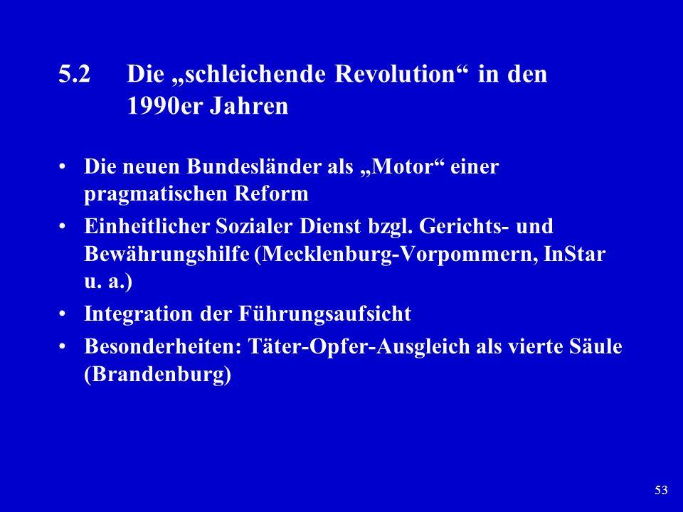 """5.2 Die """"schleichende Revolution in den 1990er Jahren"""