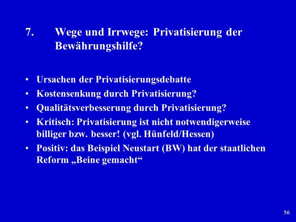 7. Wege und Irrwege: Privatisierung der Bewährungshilfe