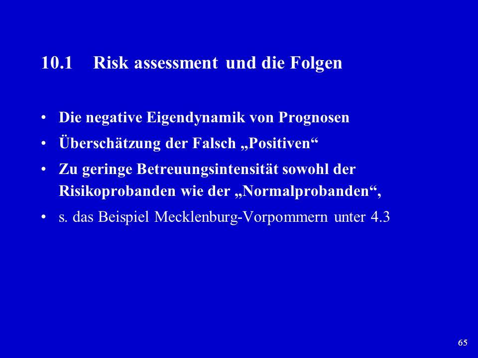 10.1 Risk assessment und die Folgen