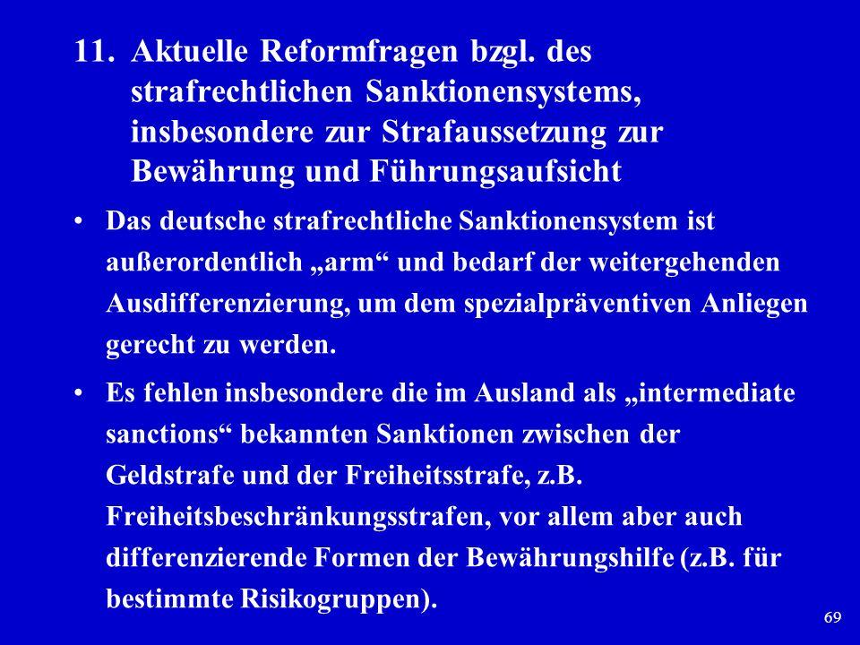 11. Aktuelle Reformfragen bzgl