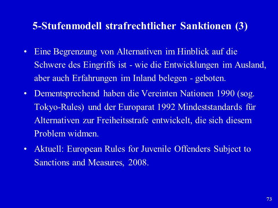 5-Stufenmodell strafrechtlicher Sanktionen (3)
