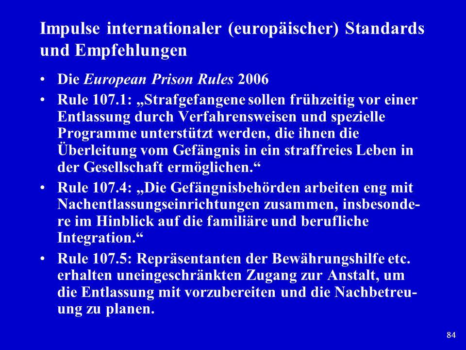 Impulse internationaler (europäischer) Standards und Empfehlungen