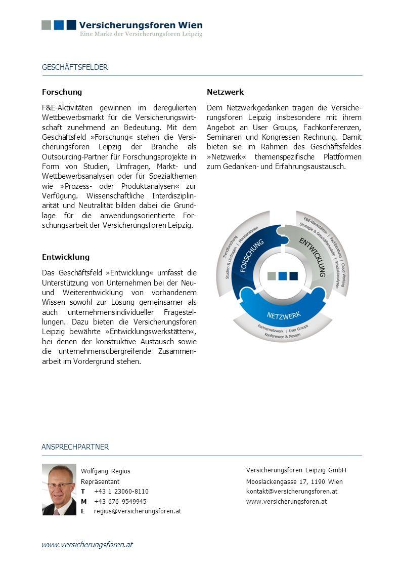Geschäftsfelder Forschung Netzwerk