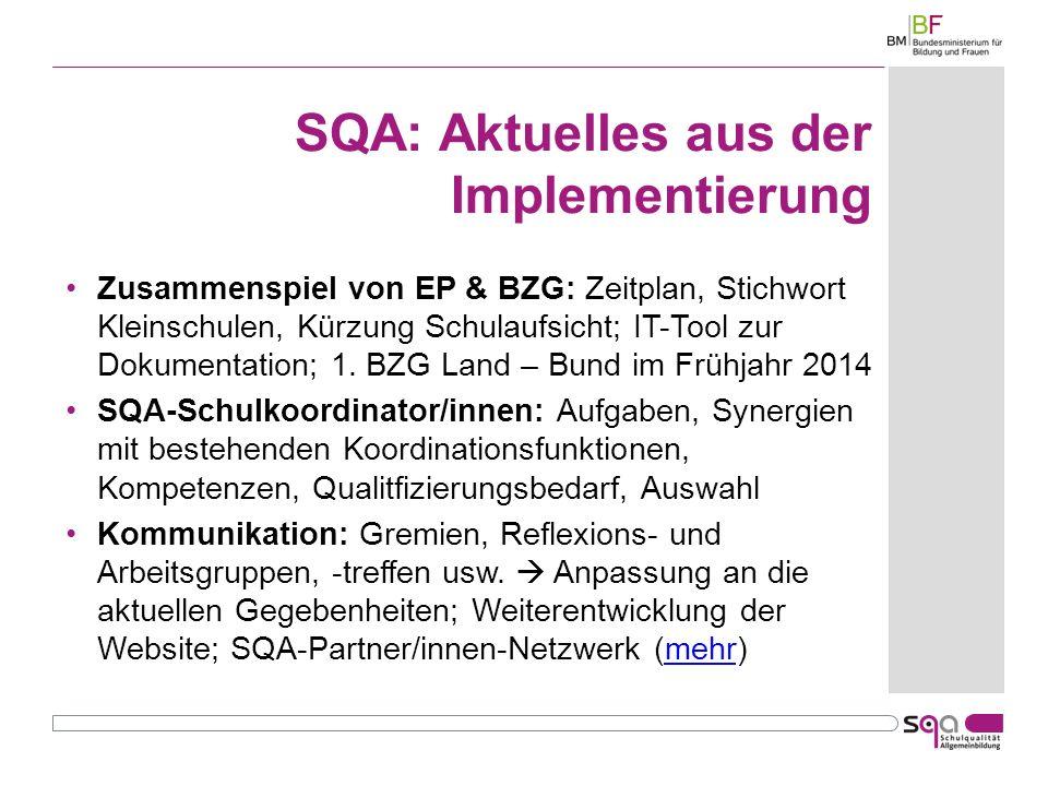 SQA: Aktuelles aus der Implementierung