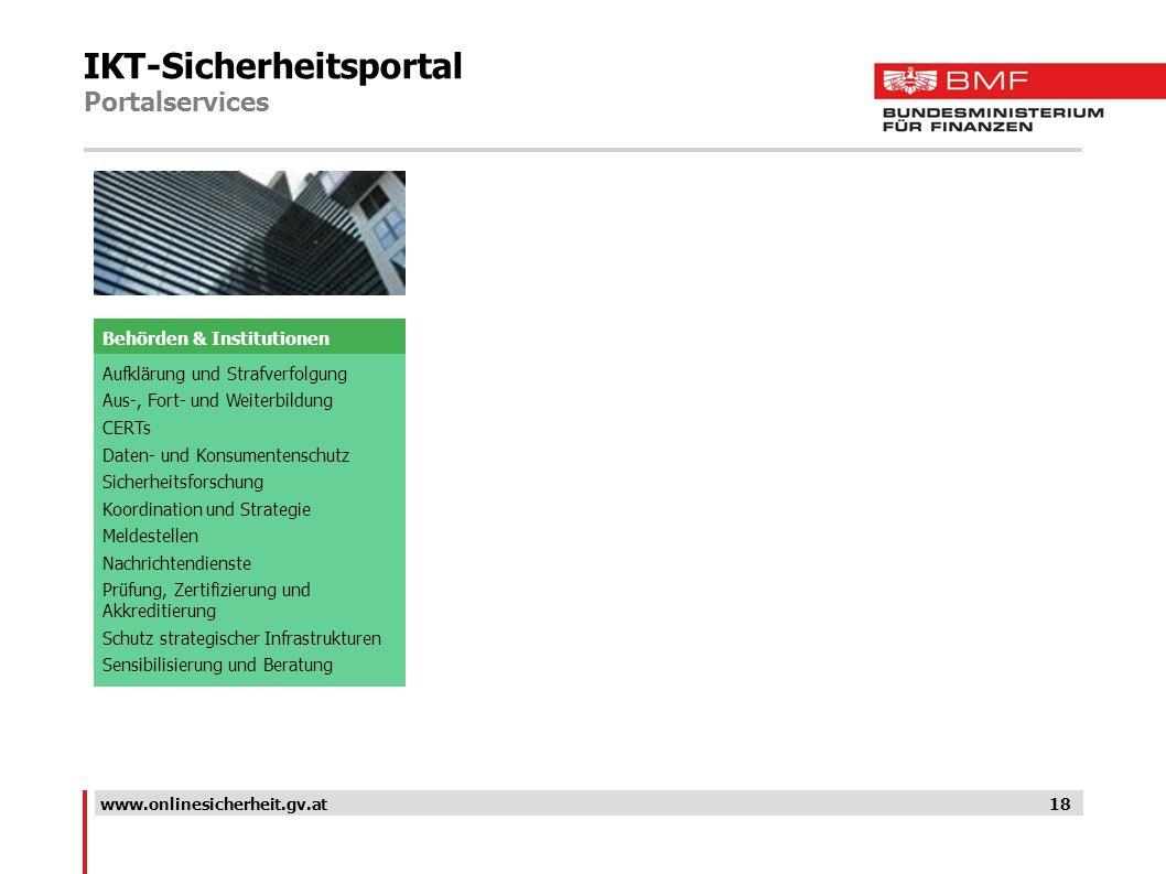 IKT-Sicherheitsportal Portalservices