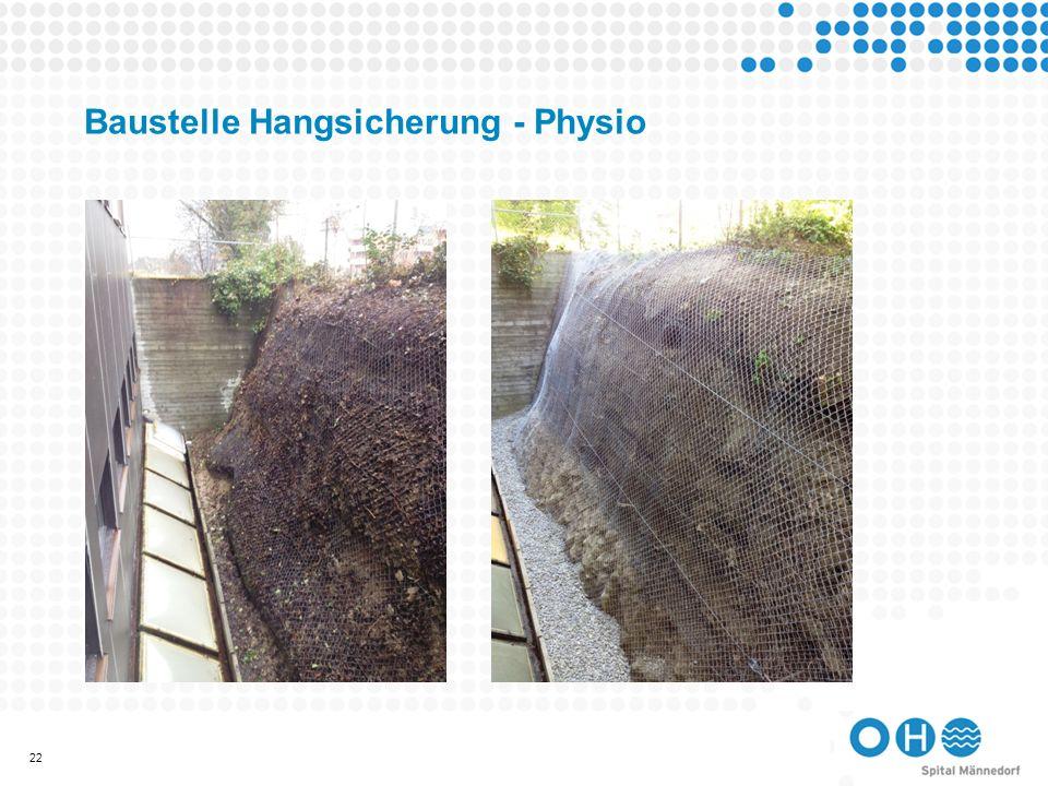 Baustelle Hangsicherung - Physio