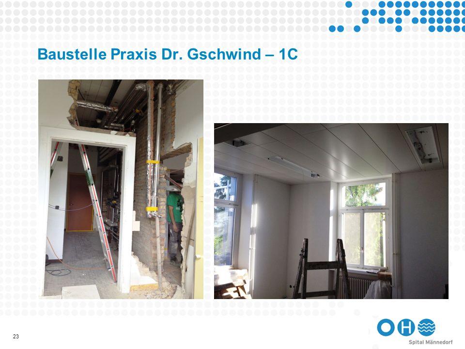 Baustelle Praxis Dr. Gschwind – 1C