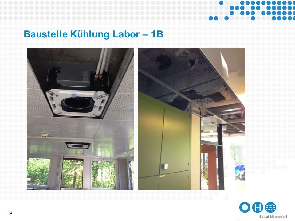 Baustelle Kühlung Labor – 1B