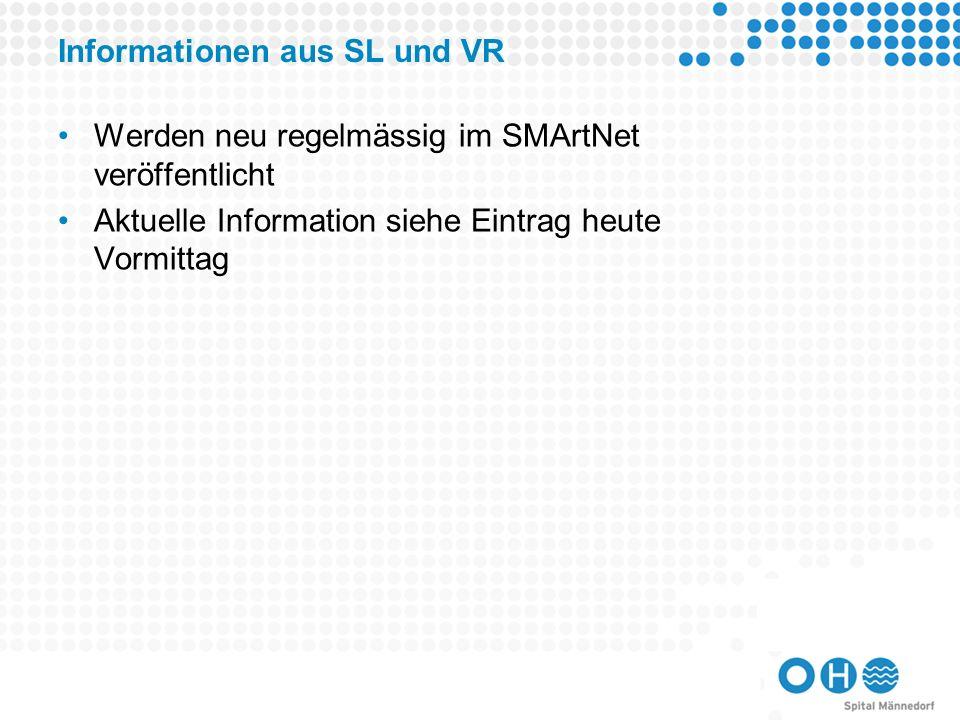 Informationen aus SL und VR