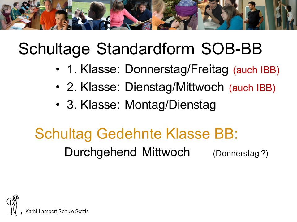 Schultage Standardform SOB-BB