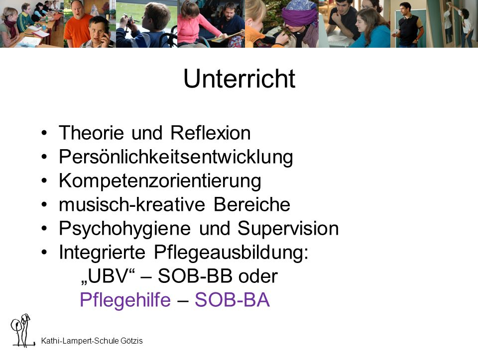 Unterricht Theorie und Reflexion Persönlichkeitsentwicklung