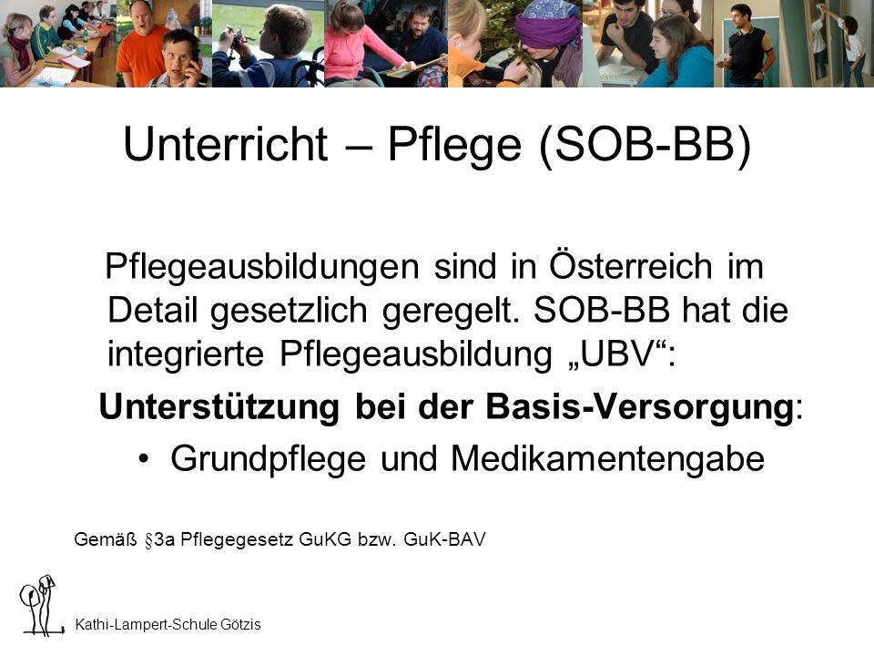 Unterricht – Pflege (SOB-BB)