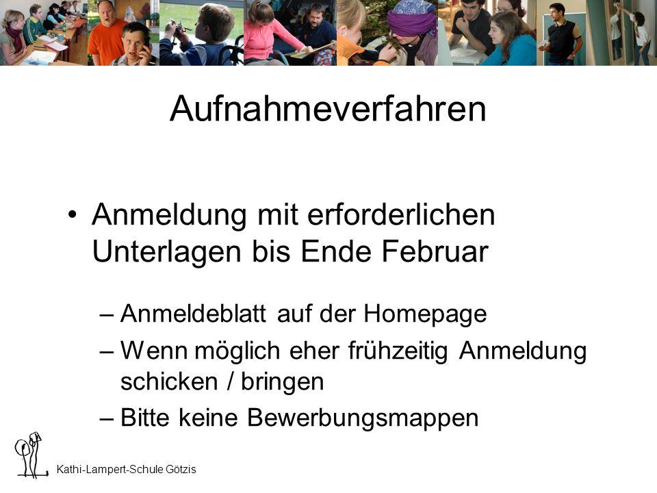 LHB Götzis Aufnahmeverfahren. Anmeldung mit erforderlichen Unterlagen bis Ende Februar. Anmeldeblatt auf der Homepage.
