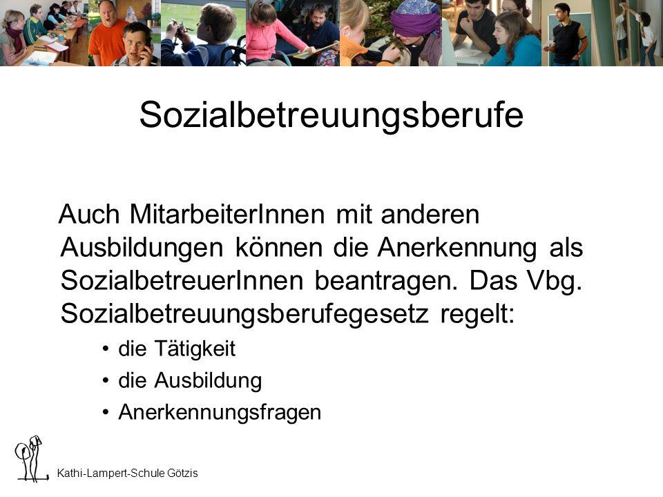 Sozialbetreuungsberufe