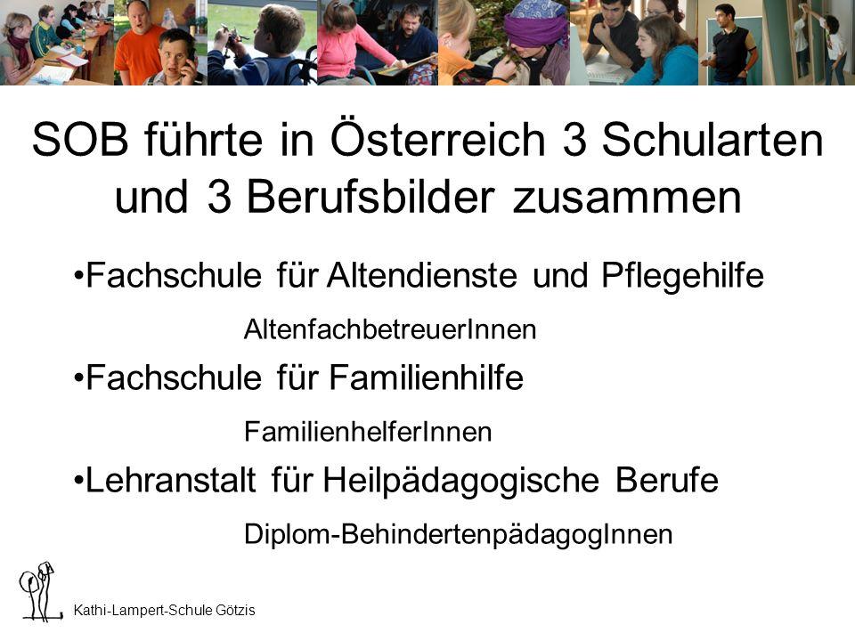 SOB führte in Österreich 3 Schularten und 3 Berufsbilder zusammen