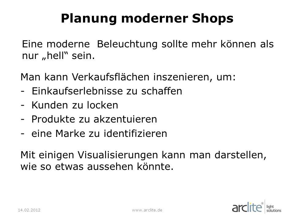 Planung moderner Shops