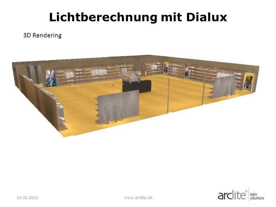 Lichtberechnung mit Dialux
