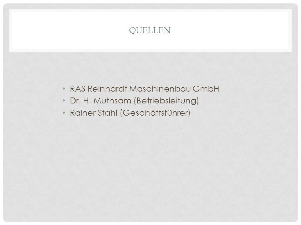 Quellen RAS Reinhardt Maschinenbau GmbH. Dr. H.