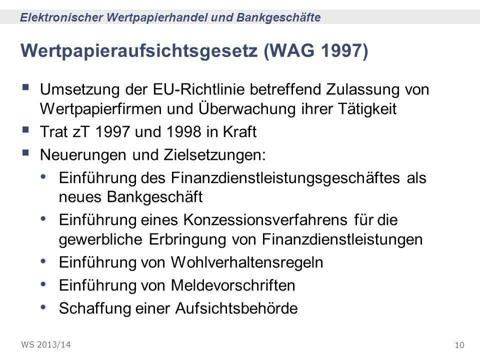 Wertpapieraufsichtsgesetz (WAG 1997)