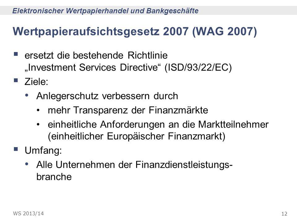 Wertpapieraufsichtsgesetz 2007 (WAG 2007)