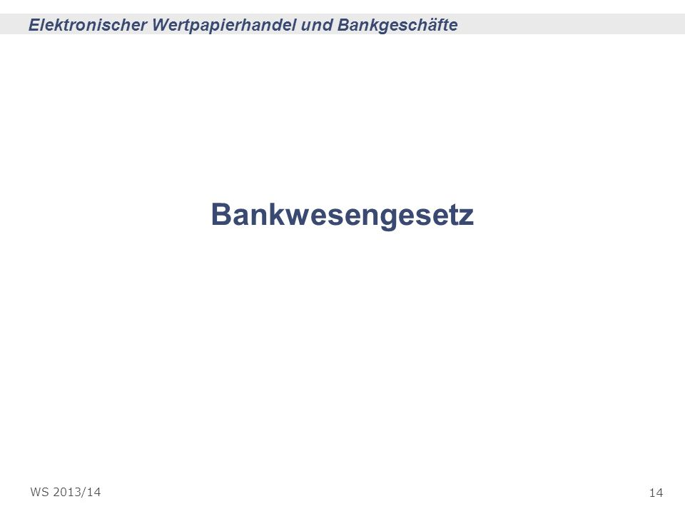 Bankwesengesetz