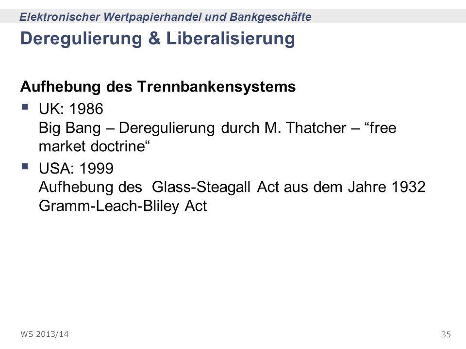 Deregulierung & Liberalisierung