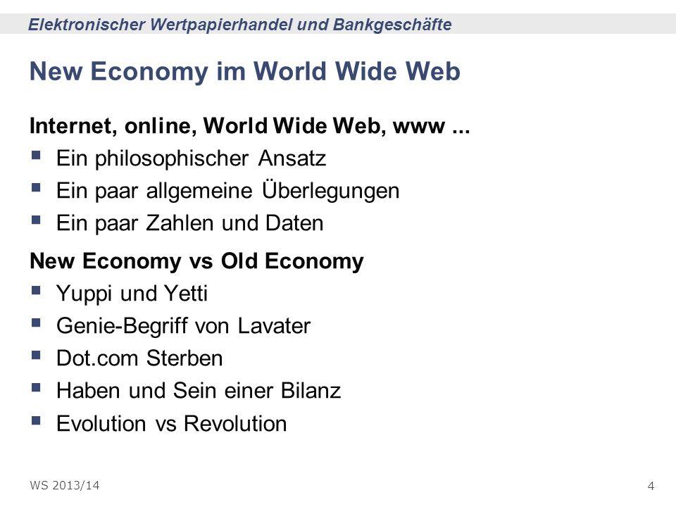 New Economy im World Wide Web