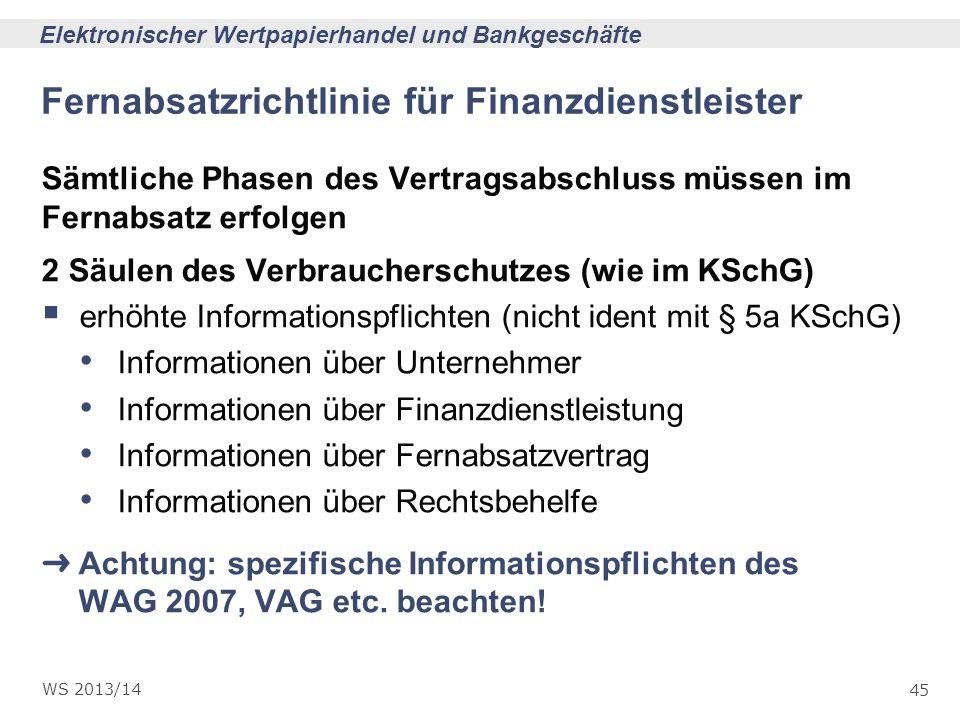 Fernabsatzrichtlinie für Finanzdienstleister