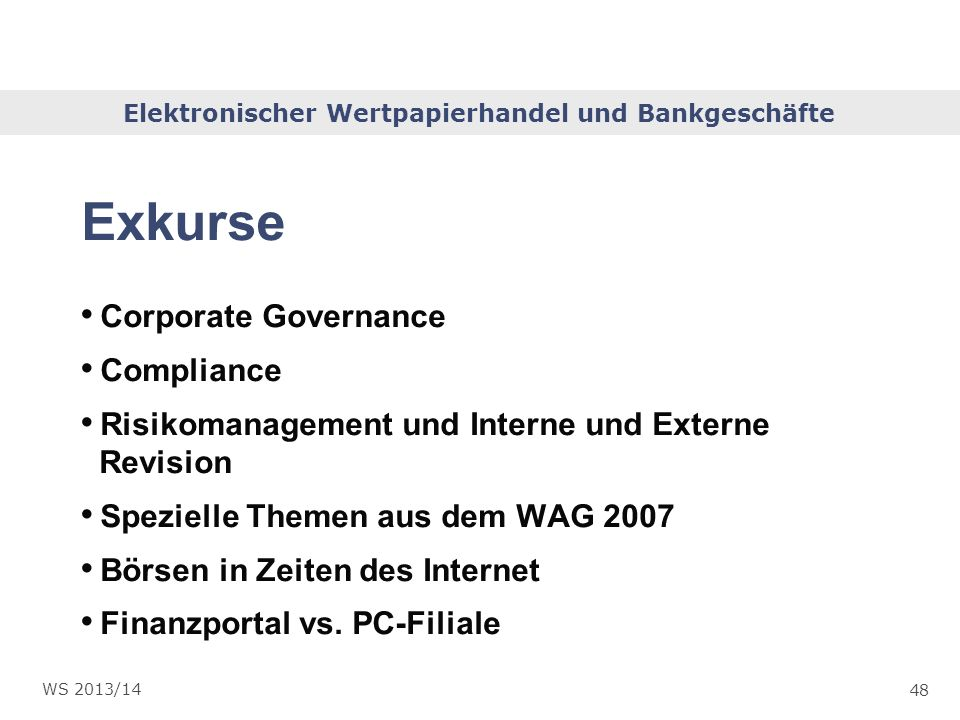 Exkurse Corporate Governance Compliance