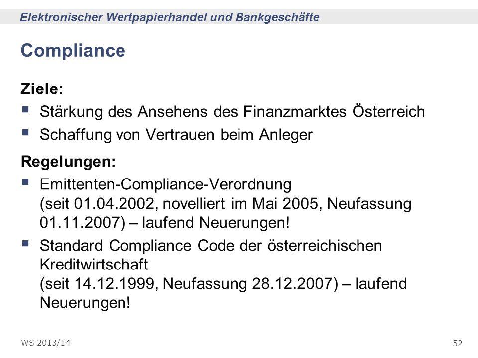 Compliance Ziele: Stärkung des Ansehens des Finanzmarktes Österreich