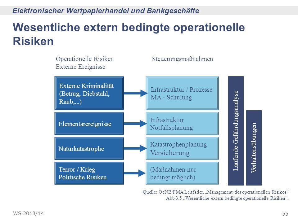Wesentliche extern bedingte operationelle Risiken