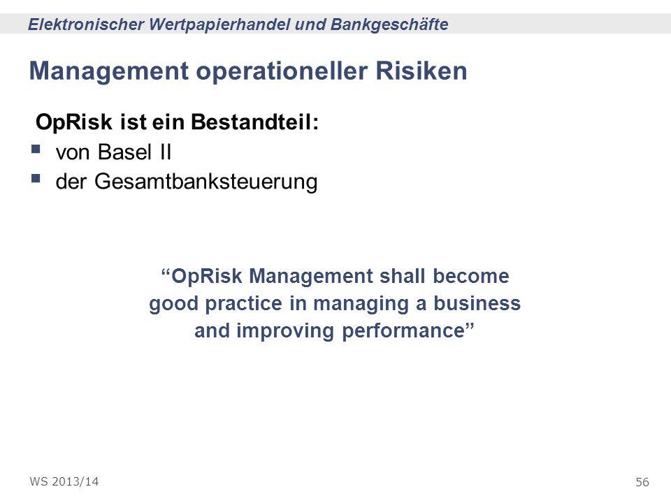 Management operationeller Risiken