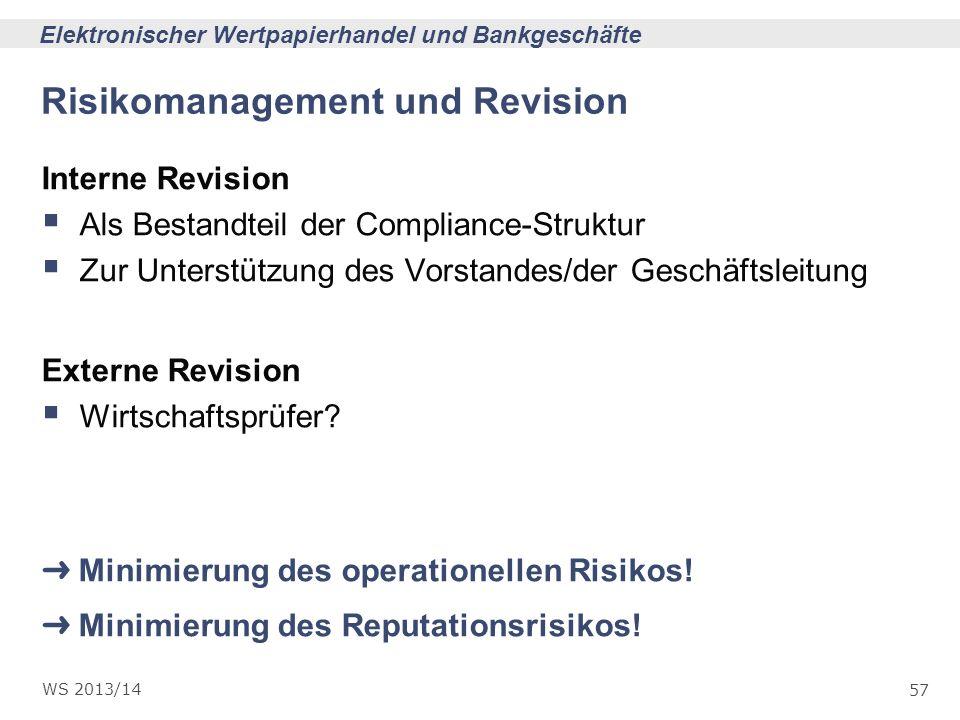Risikomanagement und Revision